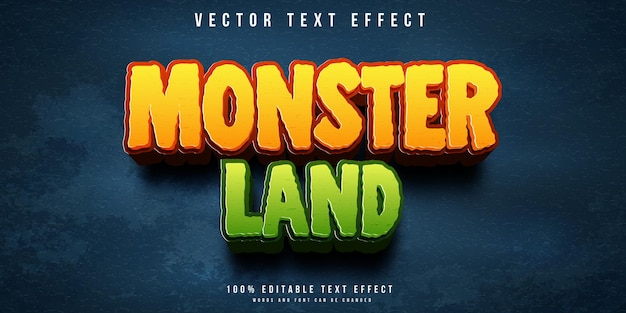 Effetto di testo modificabile in stile monster land