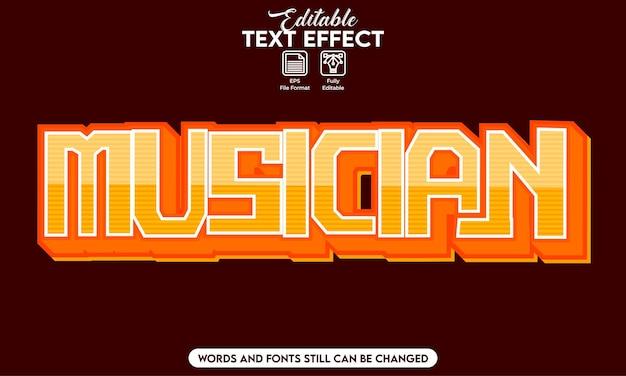 Musicista con effetti di testo modificabili