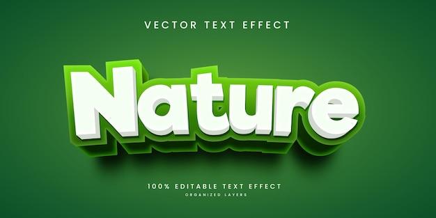 Effetto di testo modificabile in stile natura
