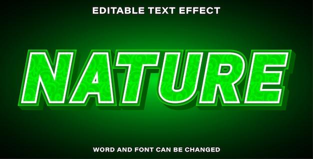 Natura dell'effetto di testo modificabile