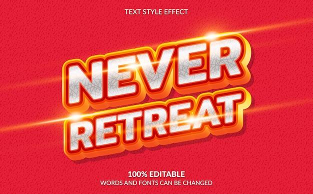 Effetto di testo modificabile non ritirare mai lo stile di testo