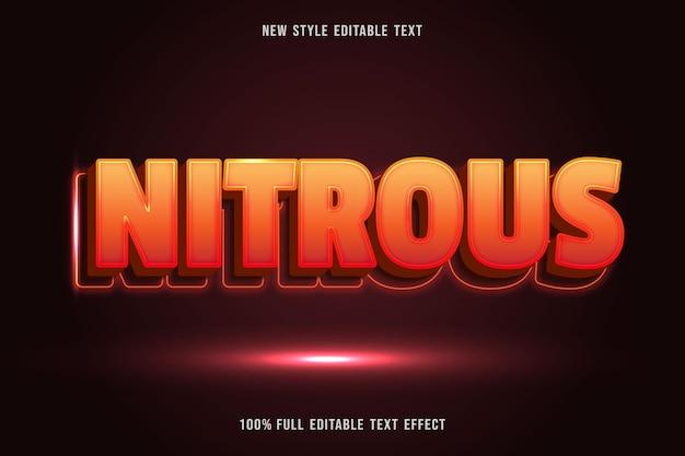 Testo modificabile effetto nitro di colore arancione e marrone