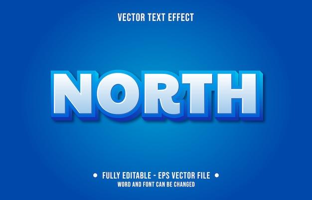Testo modificabile effetto nord in stile moderno