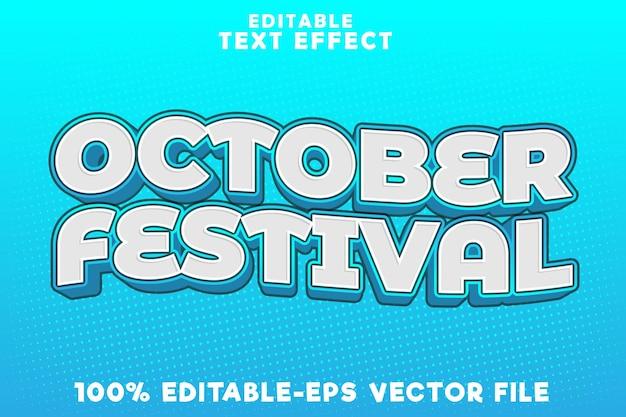 Festival di ottobre con effetto testo modificabile con stile moderno oktoberfest