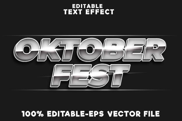 Effetto testo modificabile oktoberfest con stile di lusso oktoberfest