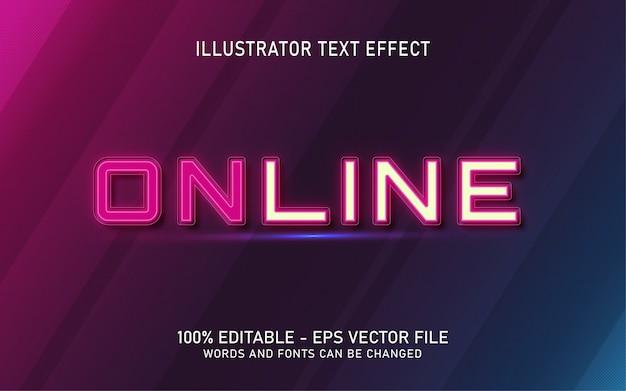 Effetto di testo modificabile, illustrazioni in stile online