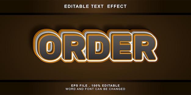Ordine degli effetti di testo modificabile