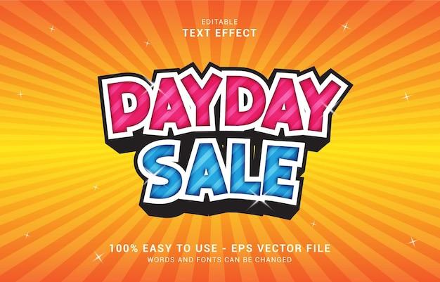 Effetto di testo modificabile, lo stile payday sale può essere utilizzato per creare il titolo