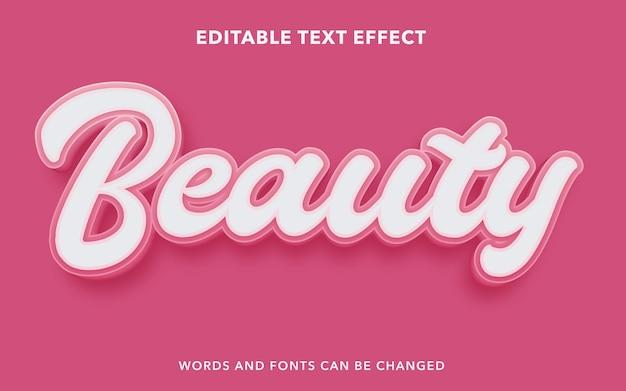 Effetto di testo modificabile per la bellezza rosa
