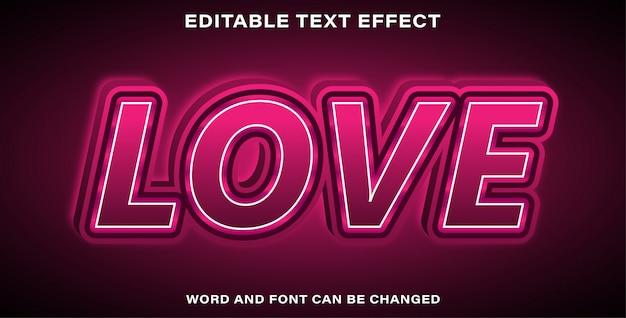 Effetto testo modificabile amore rosa