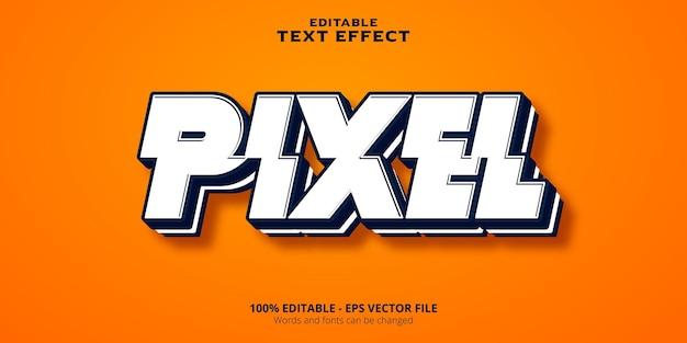 Testo modificabile effetto pixel testo