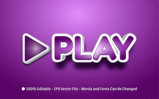 Effetto di testo modificabile, illustrazioni in stile play