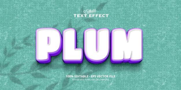 Effetto di testo modificabile, testo plum