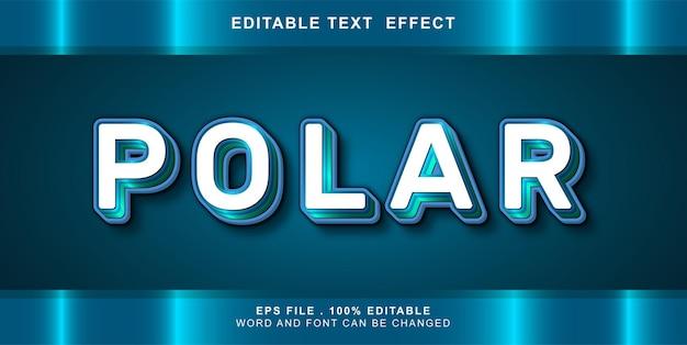 Testo modificabile effetto polare