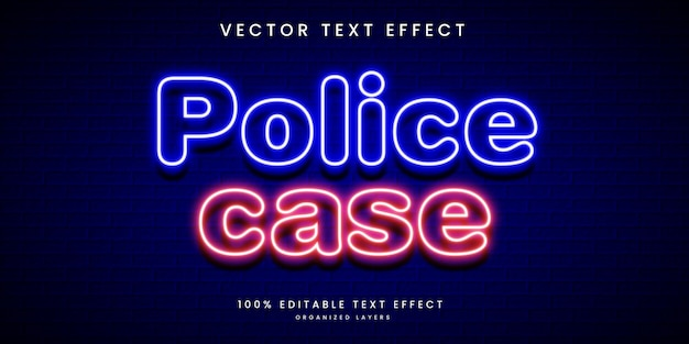 Effetto di testo modificabile nello stile della custodia della polizia