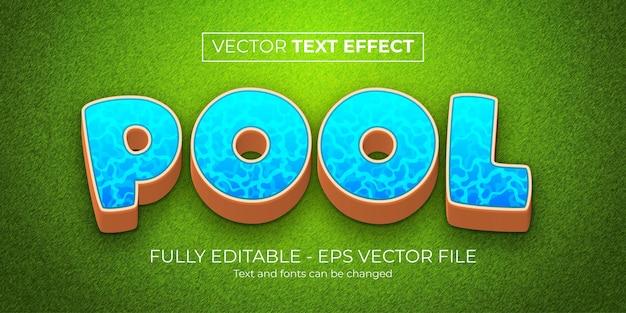 Stile del pool di effetti di testo modificabile