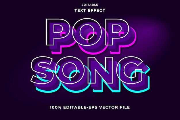 Canzone pop effetto testo modificabile
