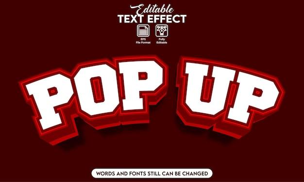 Pop-up effetto testo modificabile