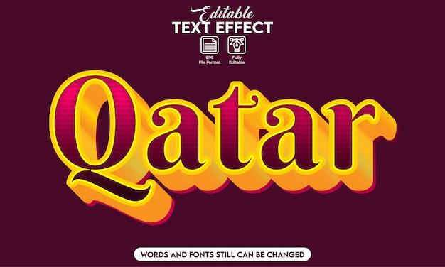 Effetto di testo modificabile qatar