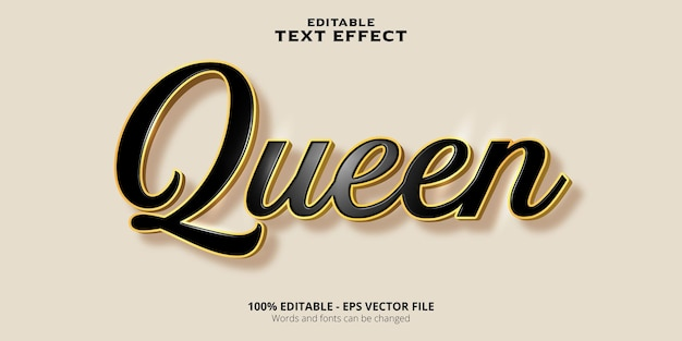 Testo modificabile testo regina effetto