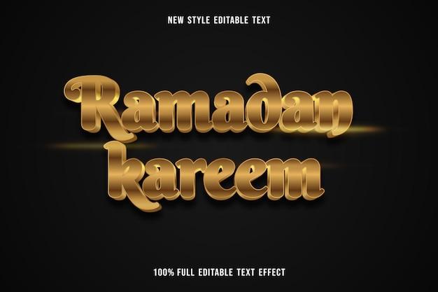 Testo modificabile effetto ramadan kareem colore oro