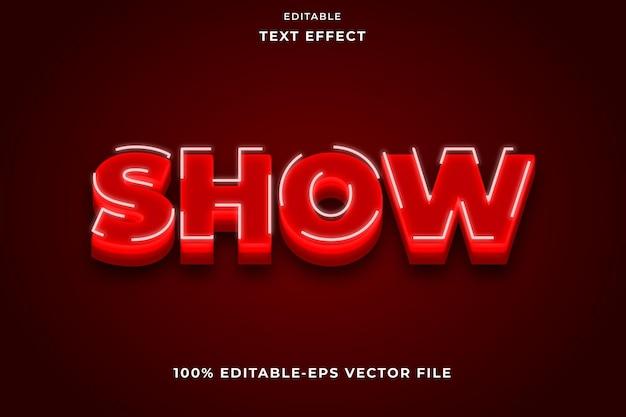 Testo modificabile effetto red show