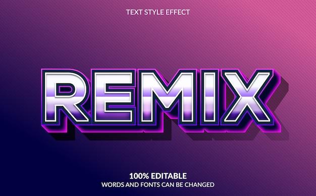 Effetto di testo modificabile, stile di testo remixato