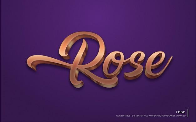Effetto di testo modificabile, illustrazioni in stile rose