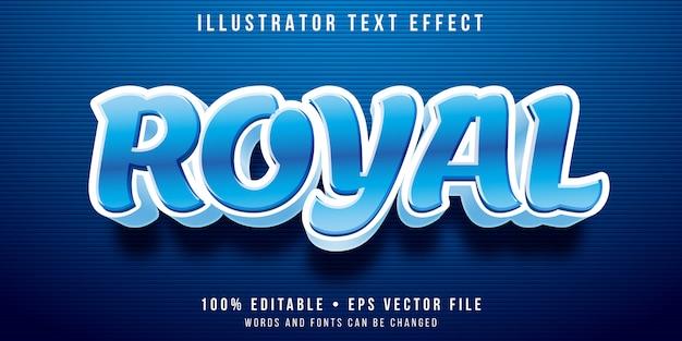 Effetto di testo modificabile - stile blu reale