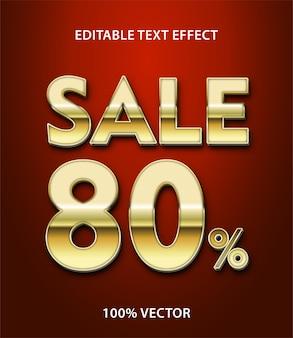 Vendita effetto testo modificabile vettore premium