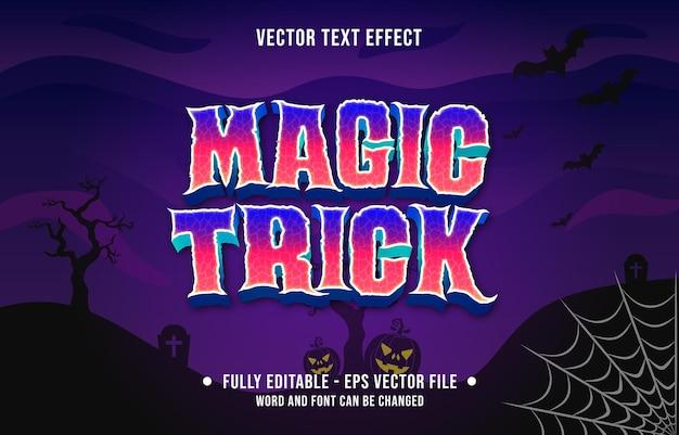 Effetto di testo modificabile spaventoso stile di tema dell'evento di halloween per il modello di supporti digitali e di stampa