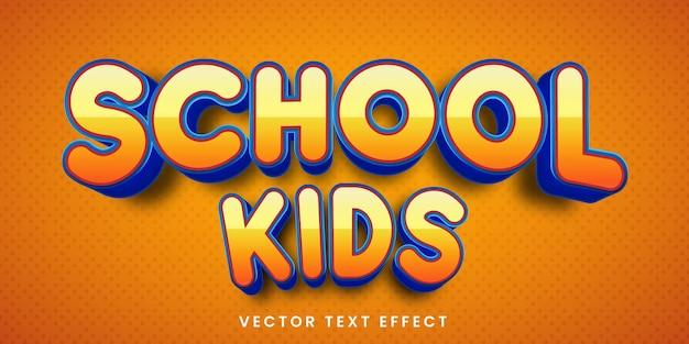 Effetto di testo modificabile in stile bambini delle scuole