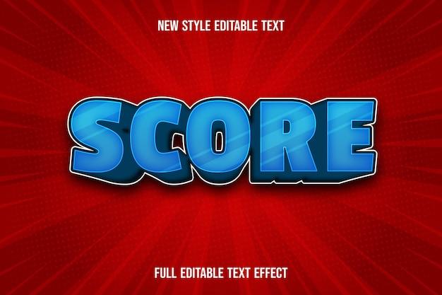 Testo modificabile effetto punteggio colore gradiente blu