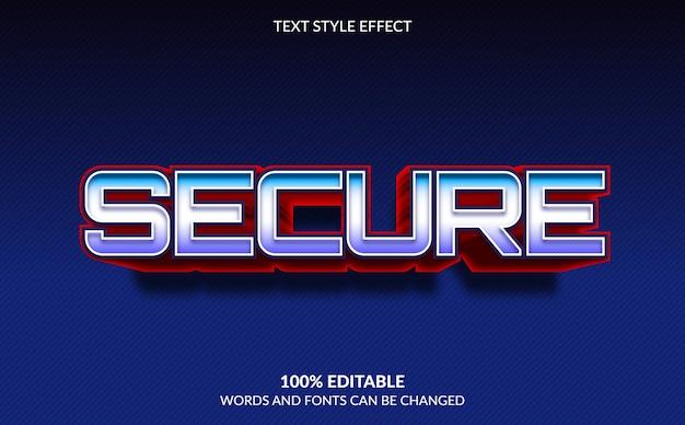 Effetto di testo modificabile, stile di testo sicuro