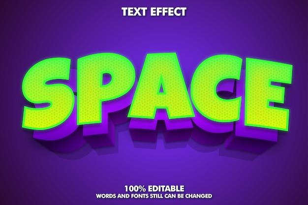 Effetto di testo modificabile, stile di testo verde e viola lucido