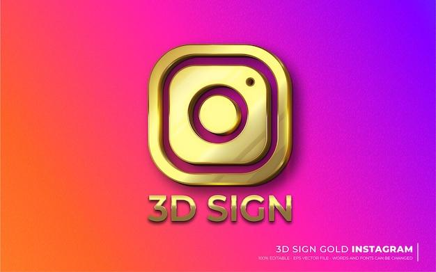 Effetto di testo modificabile, icona del segno illustrazioni in stile instagram