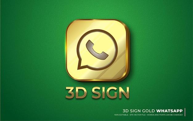 Effetto di testo modificabile, icona del segno illustrazioni in stile whatsapp