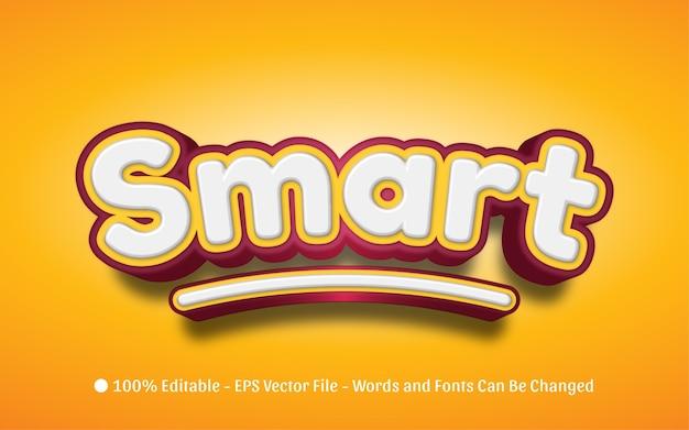 Effetto di testo modificabile, illustrazioni in stile smart