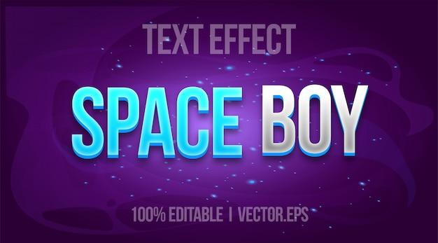 Effetto di testo modificabile - space boy in stile logo del gioco