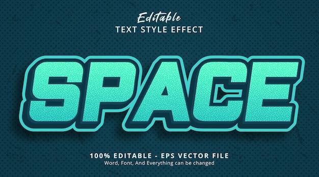 Effetto di testo modificabile, testo spaziale su stile di combinazione di colori verde