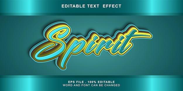 Spirito di effetto testo modificabile