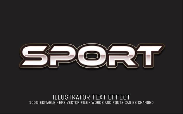 Effetto di testo modificabile, illustrazioni in stile sportivo