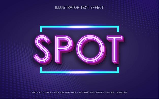 Effetto di testo modificabile, illustrazioni in stile spot