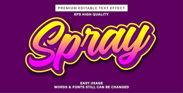 Spray effetto testo modificabile