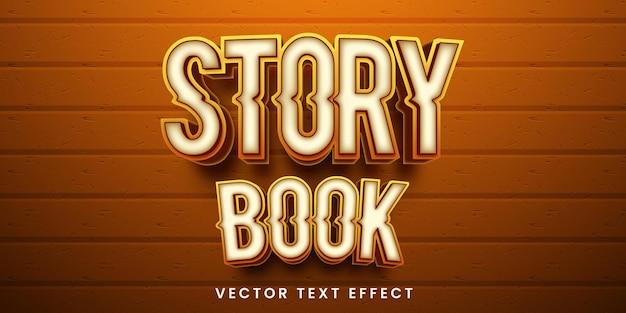 Effetto di testo modificabile in stile libro di racconti
