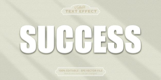 Effetto di testo modificabile, testo di successo