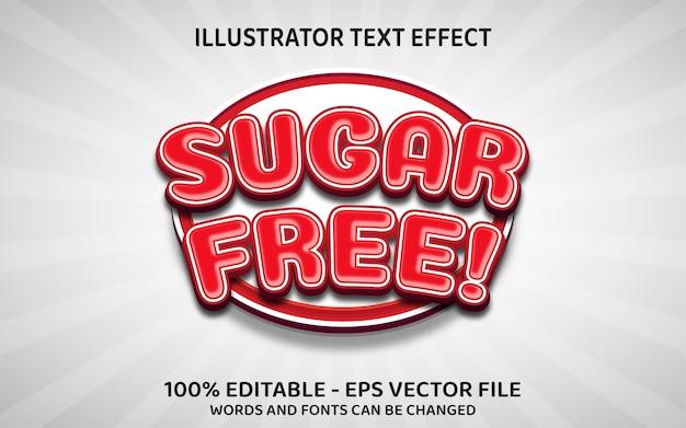 Effetto di testo modificabile, stile sugar free