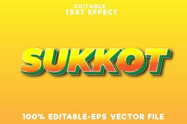 Sukkot con effetto testo modificabile con stile moderno