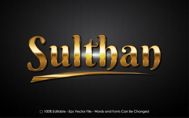 Effetto di testo modificabile, illustrazioni in stile sulthan