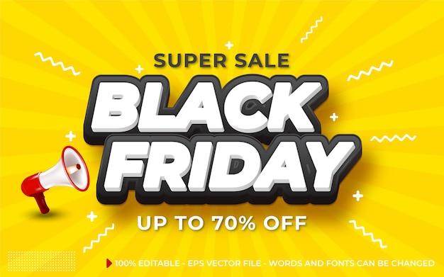 Effetto di testo modificabile, stile venerdì nero super vendita